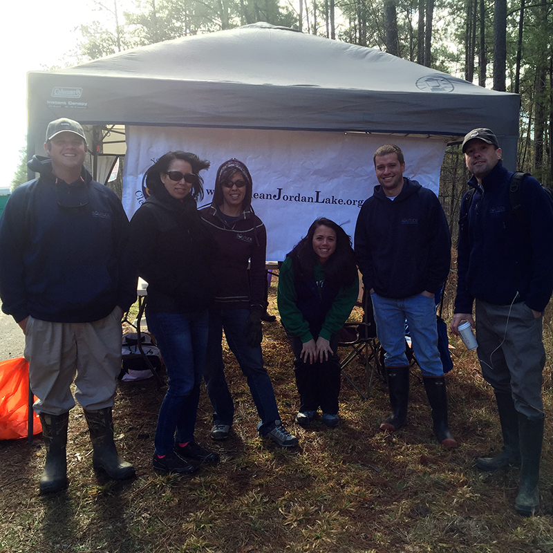 Carolinas Team Lake Jordan Clean Up