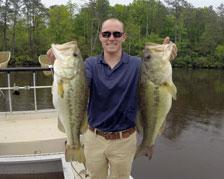 Two Largemouth Bass