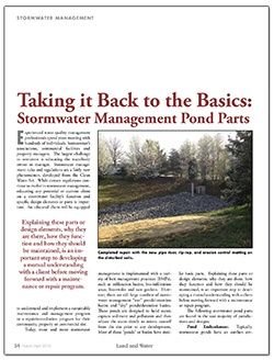 Stormwater Management Pond Parts Article
