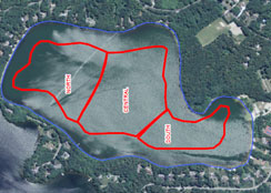Map of Pond's Treatment Areas