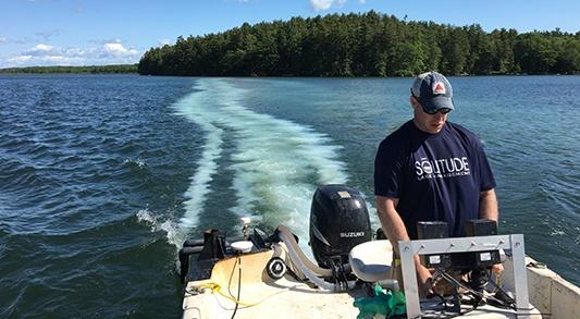 Alum Application on Large Lake