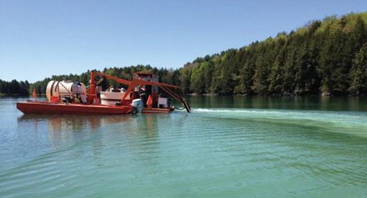 Alum Barge, Aluminum Sulfate Application
