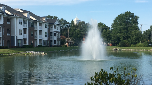 apartment fountain