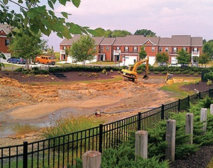 Dredging a Stormwater Pond