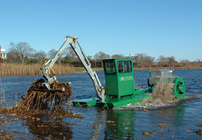 Hydro-raking Aquatic Weeds