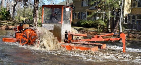 Hydro-Raking, Sediment Removal