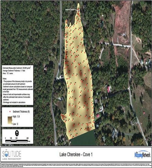 Bathymetric Map Showing Sediment Levels
