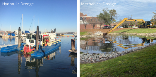 mechanical dredging and hydraulic dredging - sediment removal