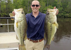Largemouth Bass Caught at Virginia Fishing Club