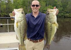 Largemouth Bass Caught at Virginia Fishing Club
