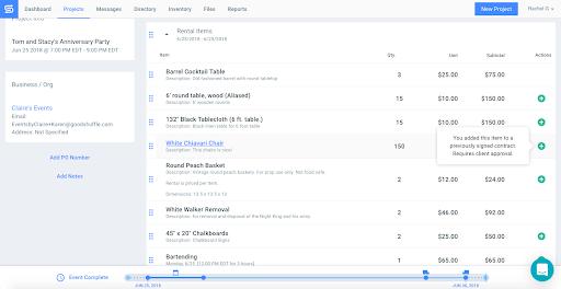 Screenshot of Goodshuffle Pro inventory management system.