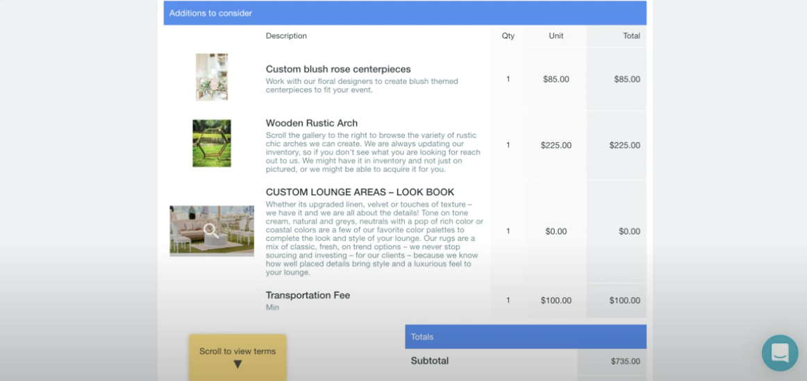 custom lookbook for events in Goodshuffle Pro