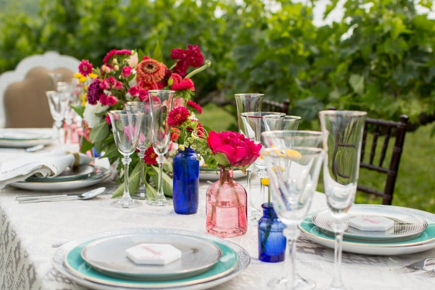 Beautiful wedding table and dining setup to photograph