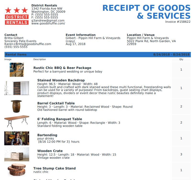Goodshuffle Pro. Goodshuffle Blog. Receipt of Goods and Services.
