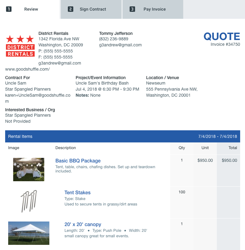 event rental business. book corporate gigs. goodshuffle pro. https://pro.goodshuffle.com