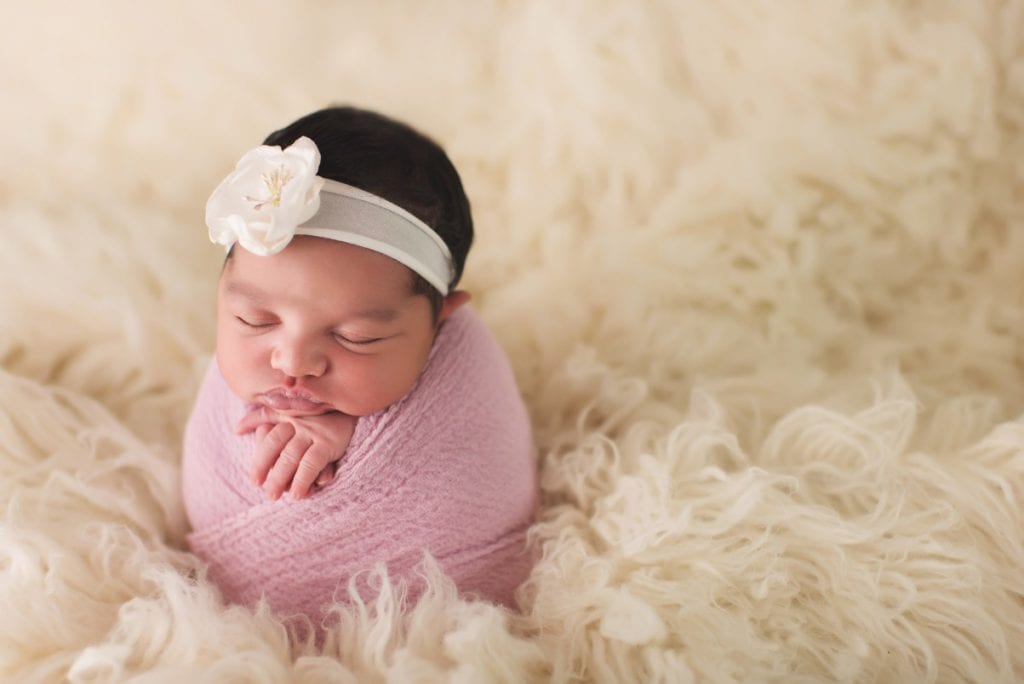 best newborn photography, baby in swaddle