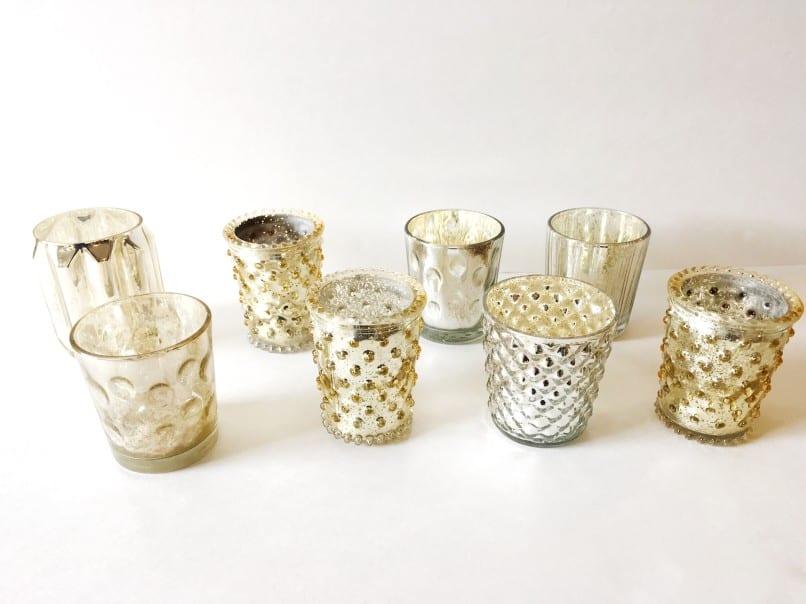 beaded event rentals glassware