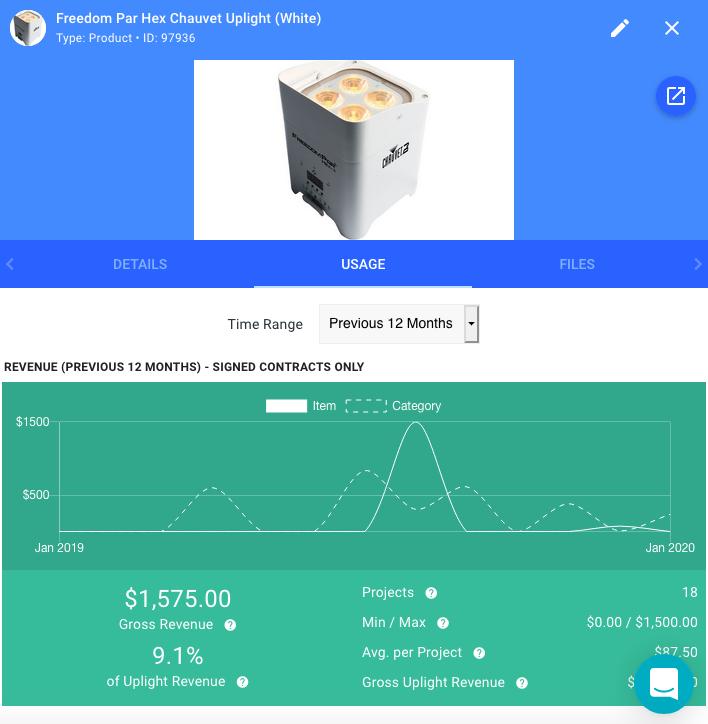Screenshot of Goodshuffle Pro, rental software, inventory management.