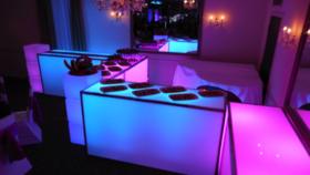 glow bar. unique event rentals. Goodshuffle.com. fun wedding rentals.