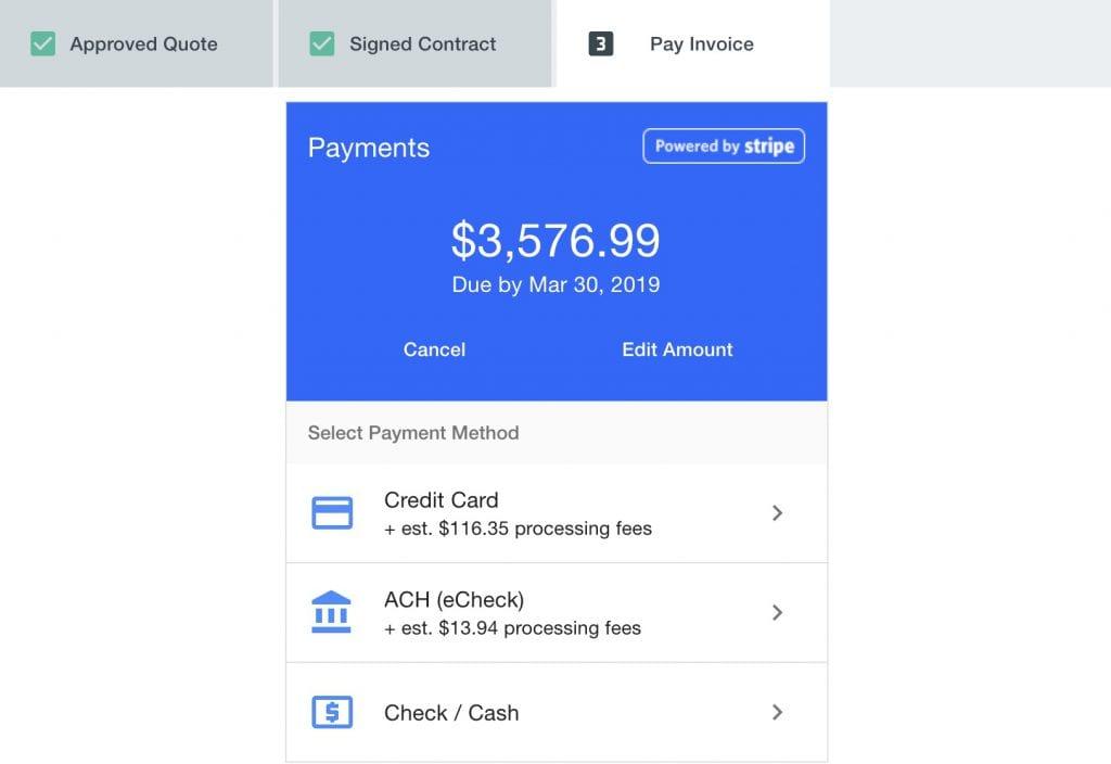 Goodshuffle Pro. Pay Invoice. Customer Experience.