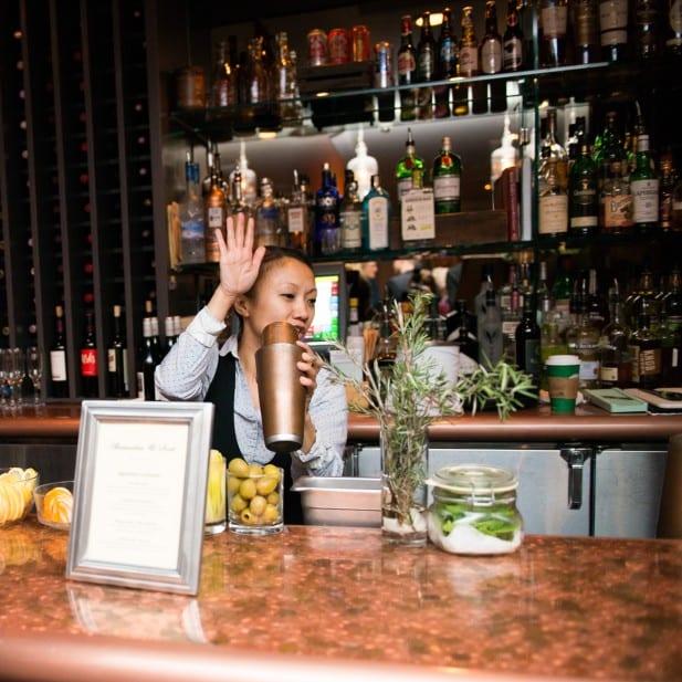 event rental open bar at a wedding