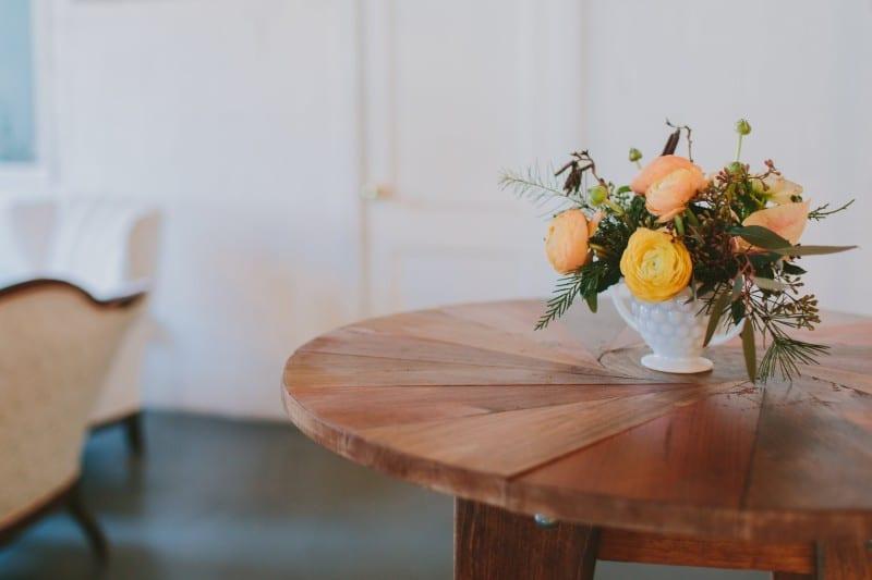 Paisley&Jade Wooden Cocktail Table. Virginia Weddings. DC Area Event Decor