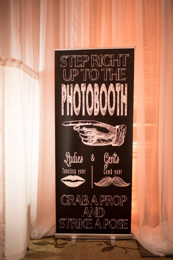 photobooth event rentals entertainment and signage at wedding