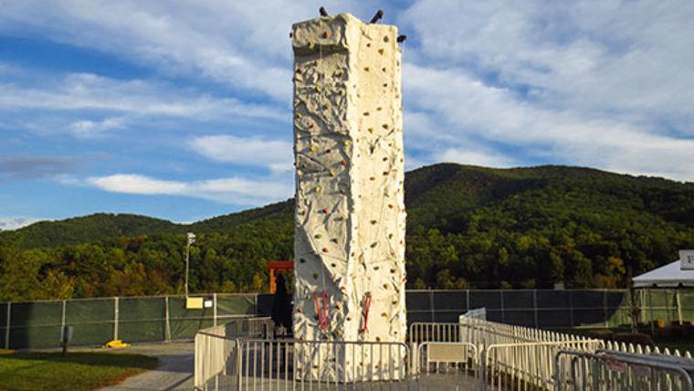 rock climbing wall pre-teen party