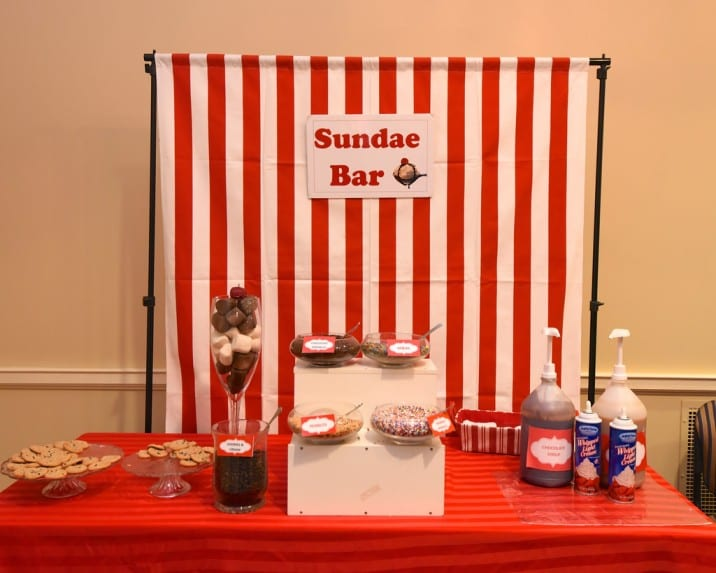 Goodshuffle ice cream sundae bar for labor day