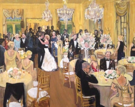 Brittany Sims Art. Live Painter Wedding DC.