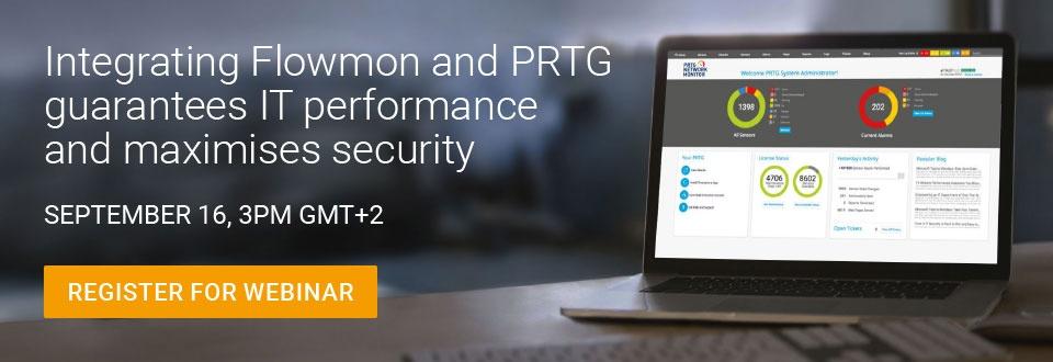 "Free webinar ""Integrating Flowmon and PRTG"""