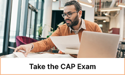 Take the CAP exam