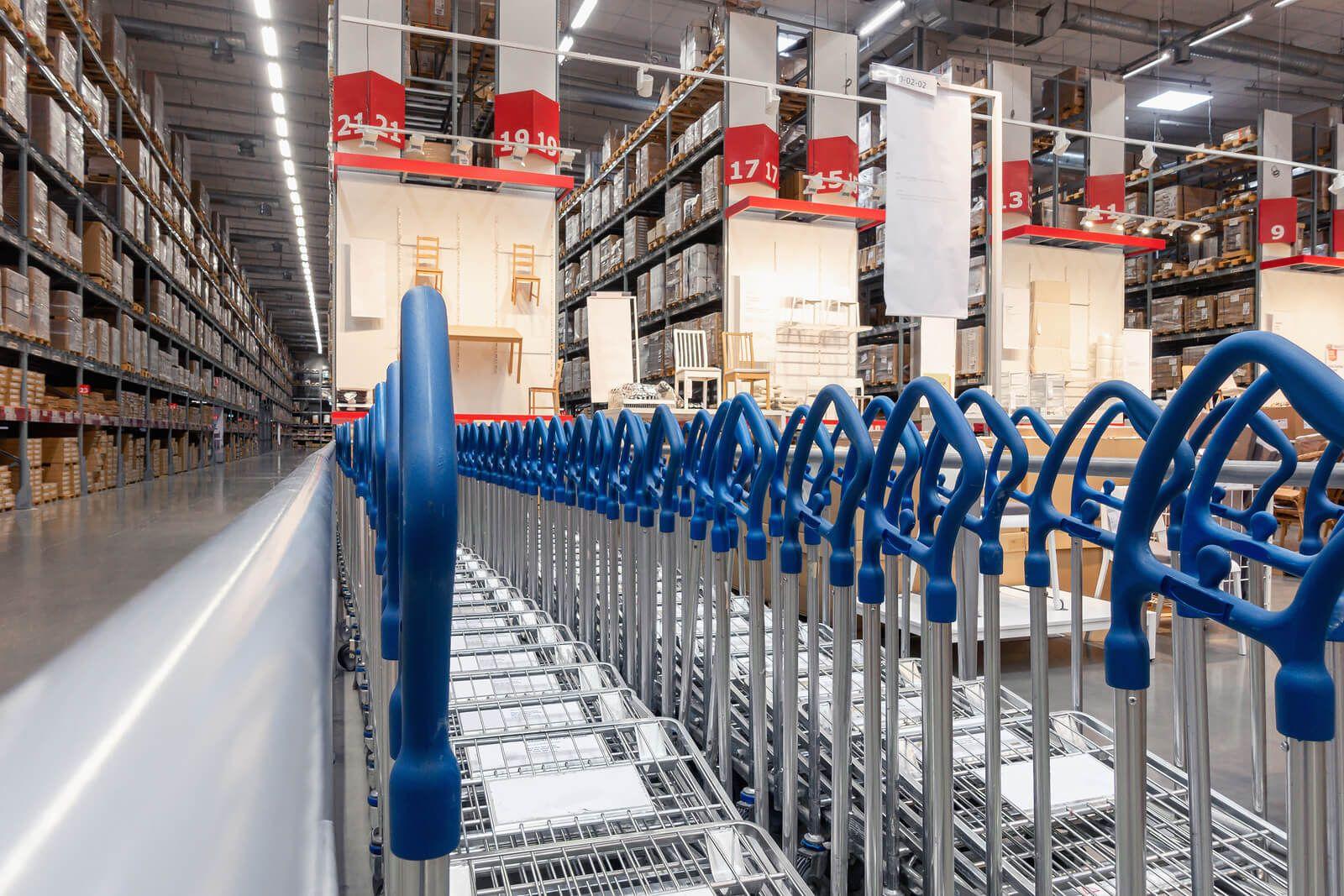 bigstock-Shopping-Cart-On-Corridor-Floo-322747858