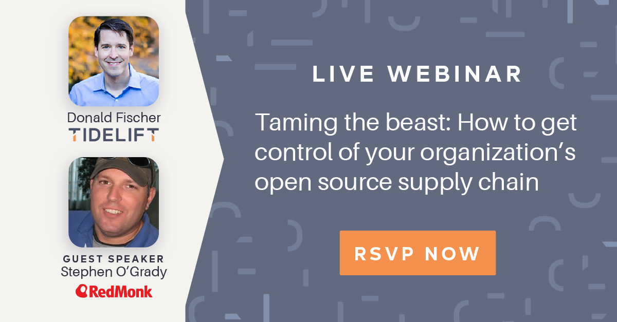 You're invited: Taming the beast: How to get control of your organization's open source supply chain