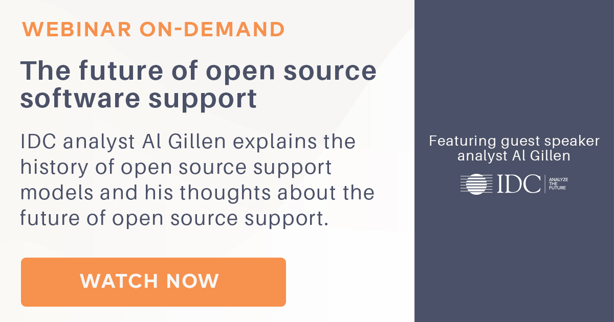 Webinar on-demand: The future of open source software support