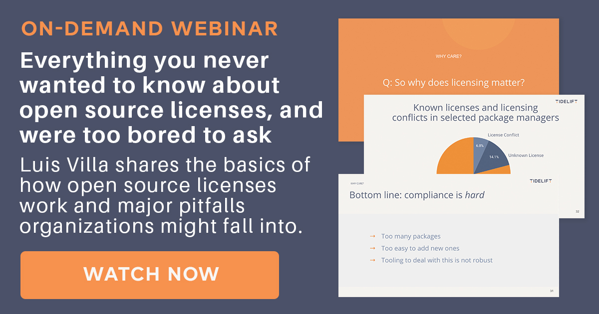 On-demand webinar: Everything you never wanted to know about open source licenses, and were too bored to ask