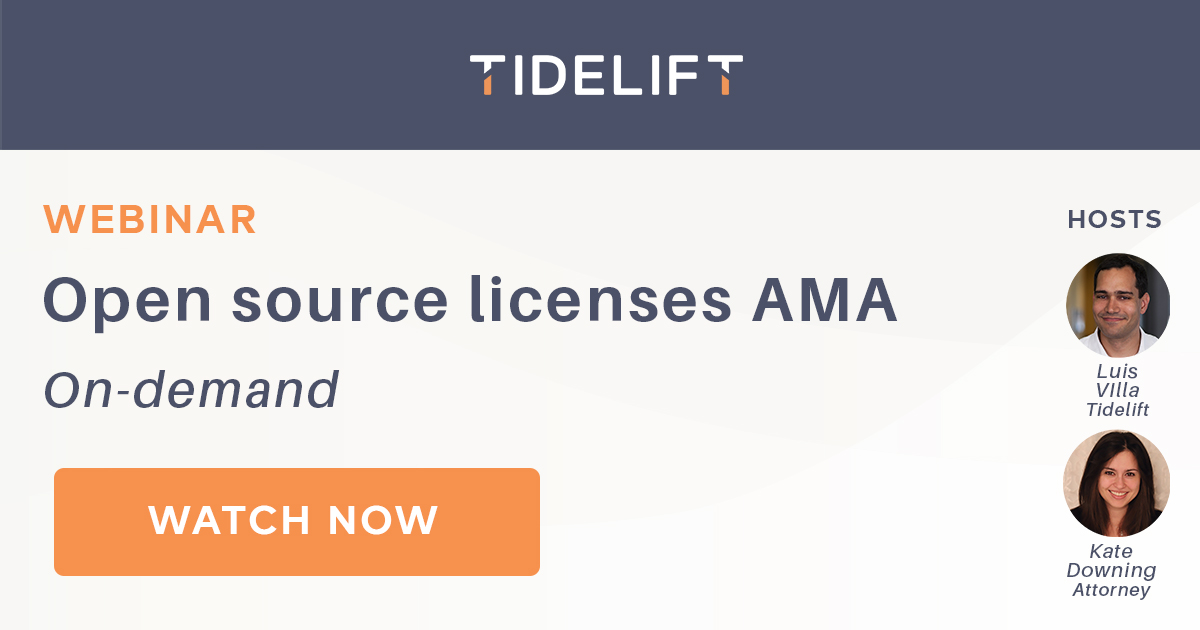 Open source licenses AMA recap: containers, compliance, reputation, dragons, and more