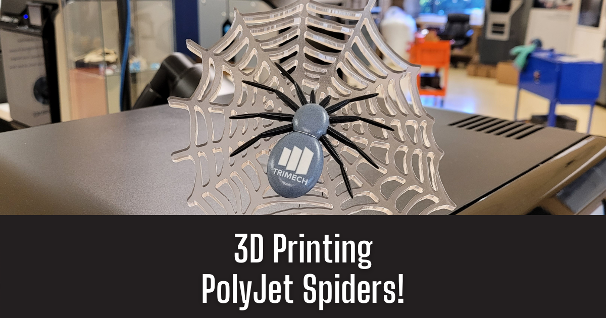 3D Printing PolyJet Spiders for Halloween!