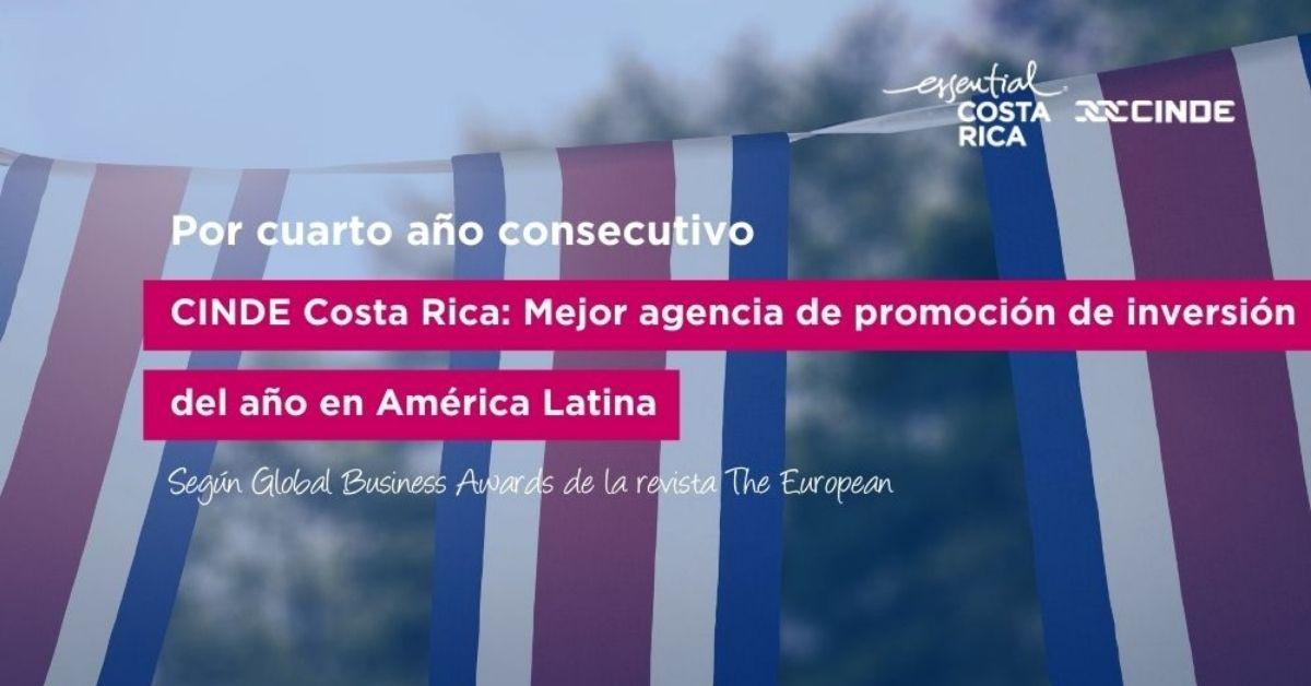 Revista The European designa a CINDE como la mejor agencia de promoción de inversión del año en América Latina