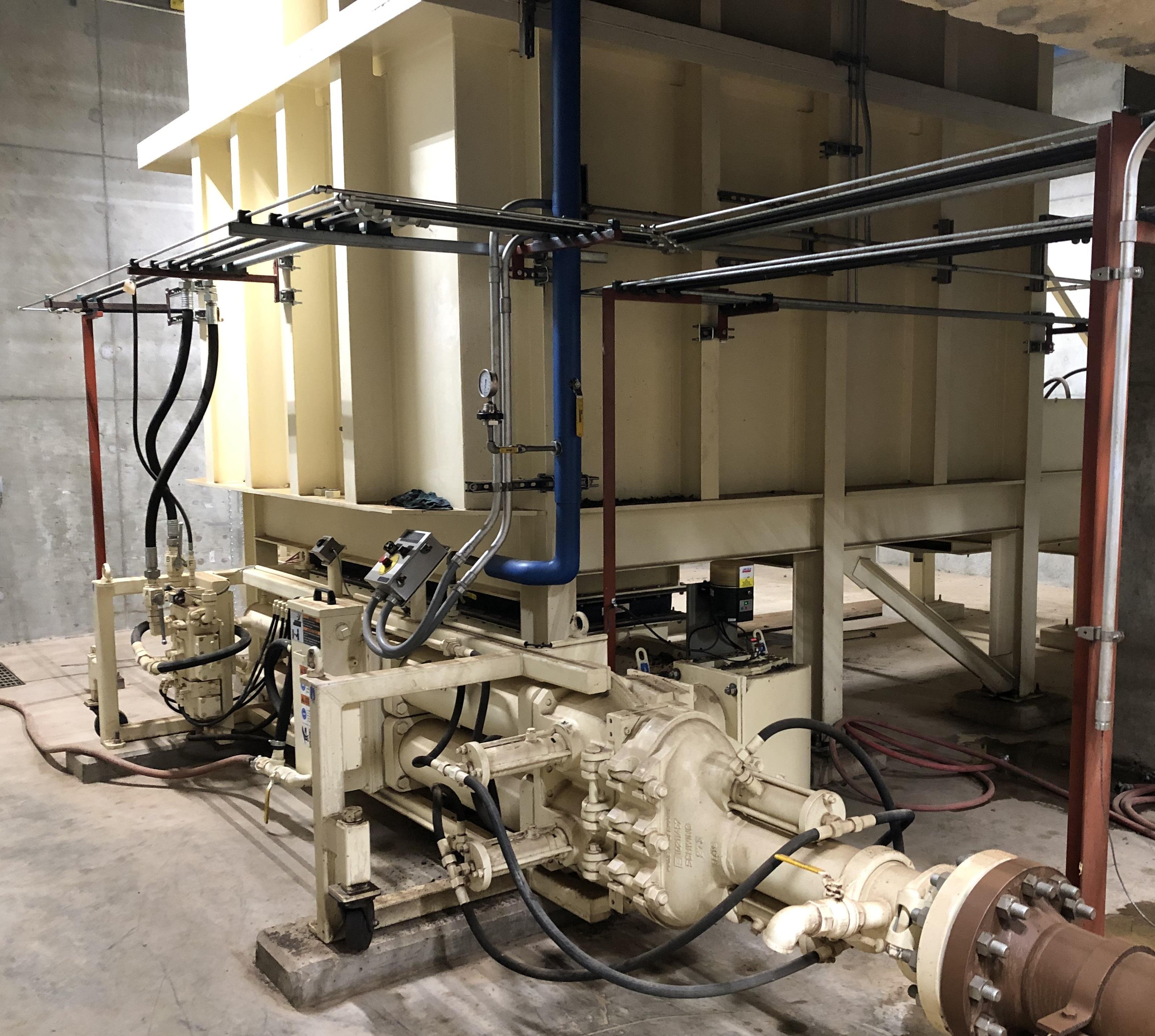 Schwing Bioset Biosolids Piston Pump