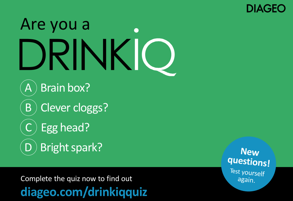 The DRINKiQ Quiz tests consumers' knowledge on the effects of alcohol