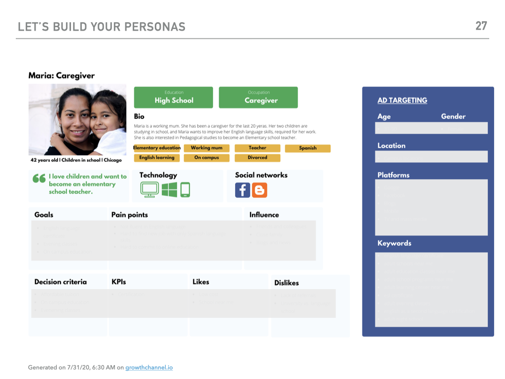 buyer persona sample