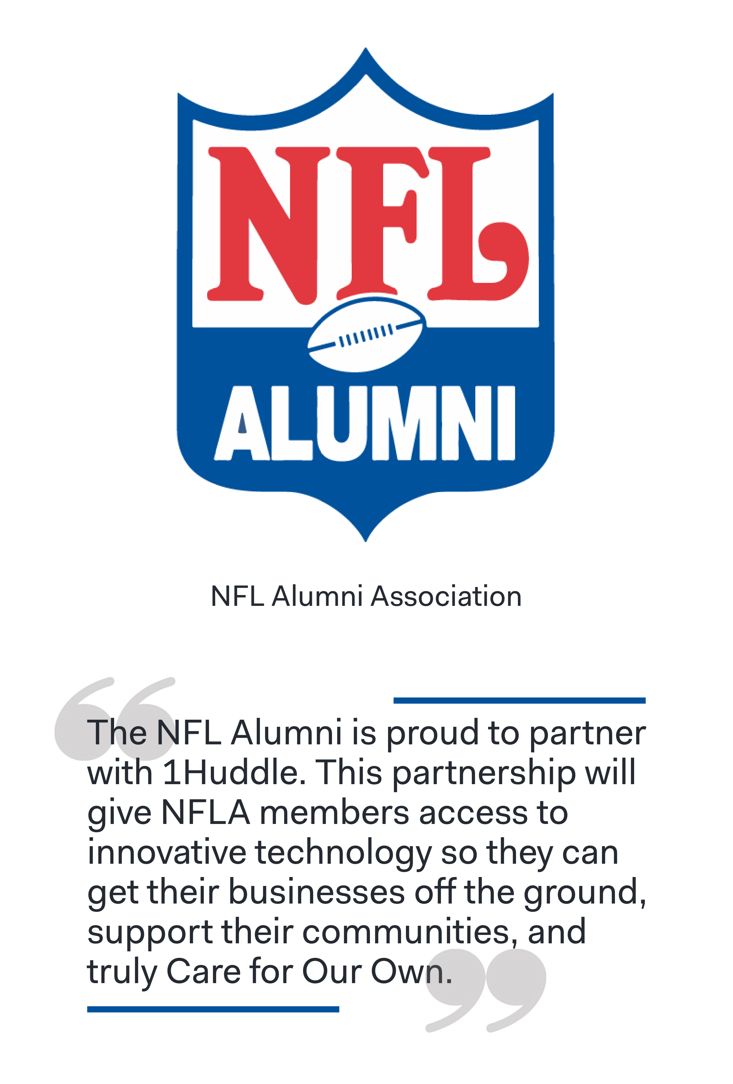 NFL Alumni Association Joins Forces with 1Huddle to Provide Fun and Accessible Training for Former Players and Coaches copy