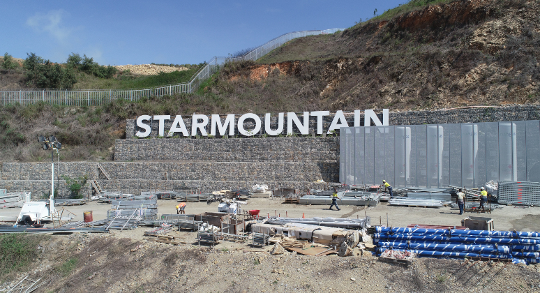 Star Mountain Plaza, PNG. Breaking ground.