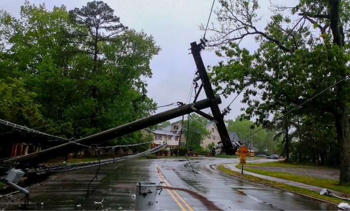 power line down storm
