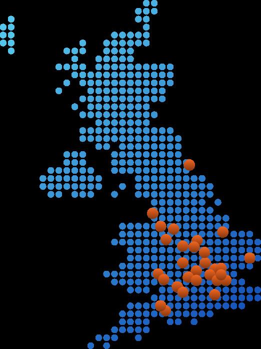 Ultromics UK Map