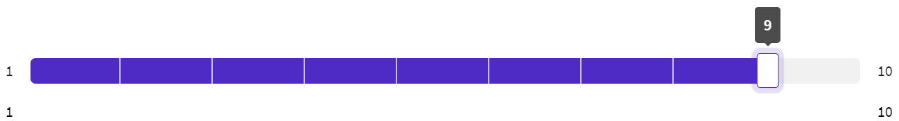 Image example  of SightX rating scale question type