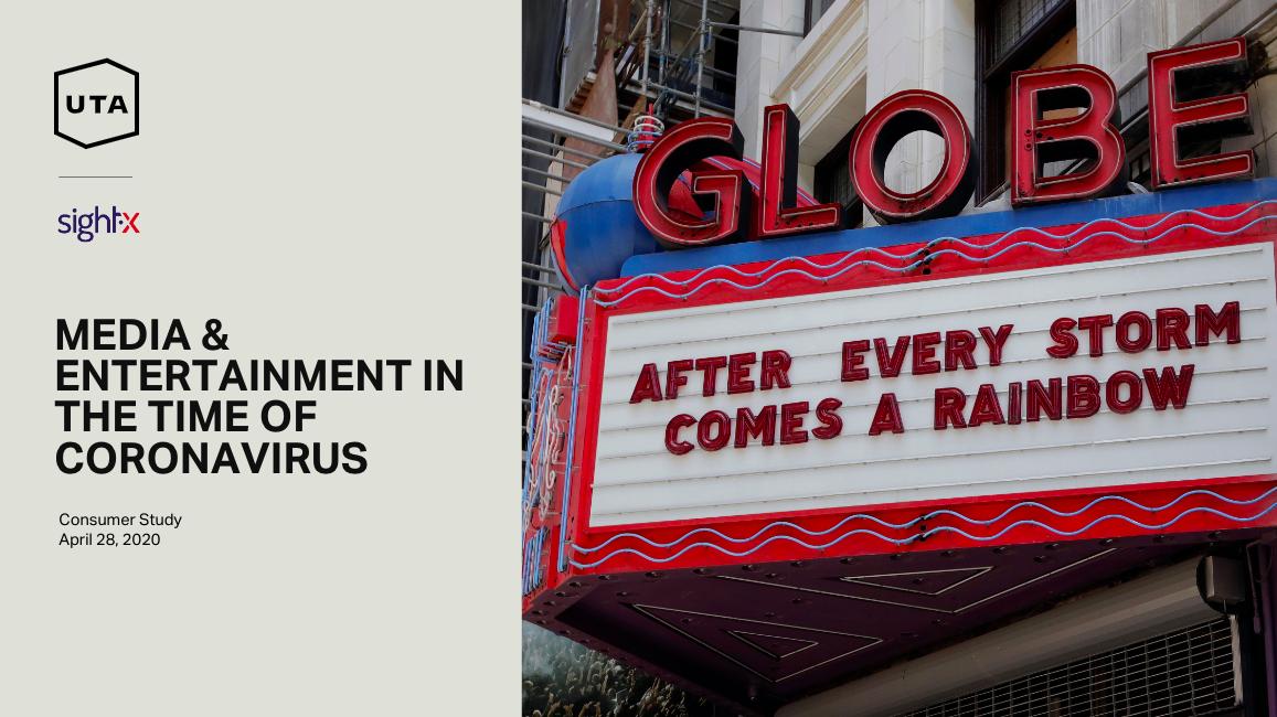 UTA IQ & SightX Release Study Of Entertainment Trends In COVID-19 Era