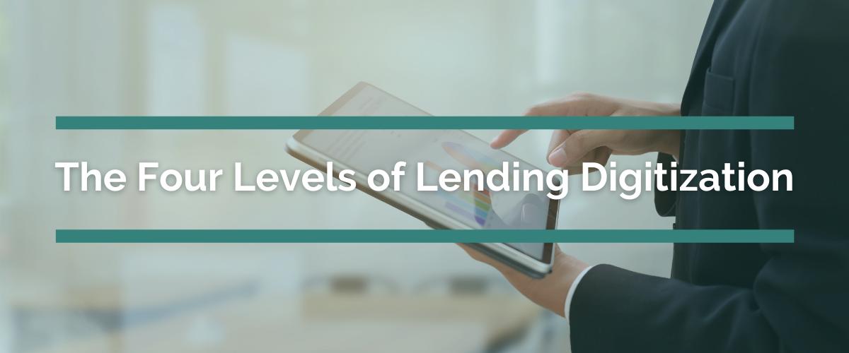 four levels of lending digitization hero