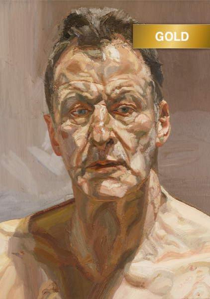 Reflection (Self Portrait), 1985 (oil on canvas), Freud, Lucian (1922-2011)  Private Collection  © The Lucian Freud Archive  Bridgeman Images  619724-1 copy